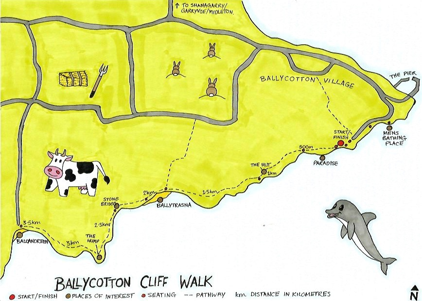 Ballycotton Cliif Walk Map